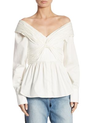 Jandra Cotton Off-The-Shoulder Top