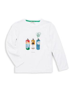 Toddler, Little Boy's & Boy's Spray Cotton Tee