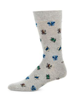 Beetle Embroidered Socks