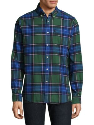 Tartan Cotton Casual Button-Down Shirt