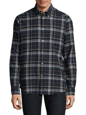 Blane Check Button-Down Shirt