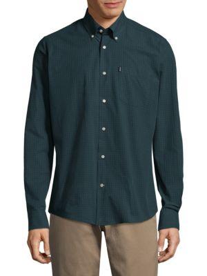 Woven Cotton Casual Button-Down Shirt