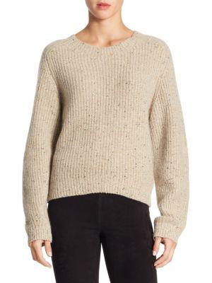 Cropped Saddle Cashmere Sweater