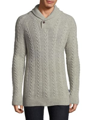 Cableknit Wool Sweater