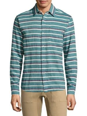 Casual Button-Down Glade Stripe Shirt