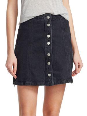 BELLA FREUD x J BRAND Nashville Snap-Front Skirt