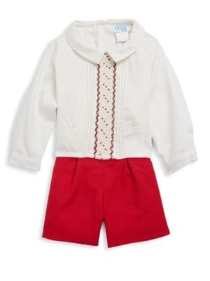Baby's Two-Piece Casual Top and Shorts Set