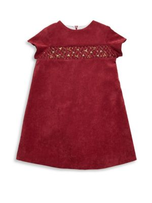 Toddler & Little Girl's Corduroy A-Line Dress