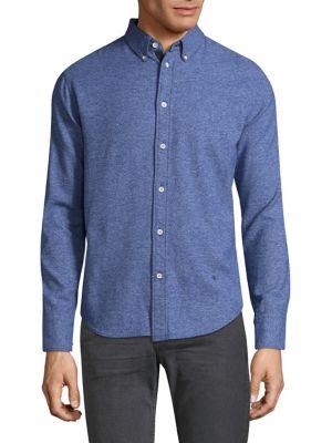 Fit 2 Base Cotton Casual Button-Down Shirt