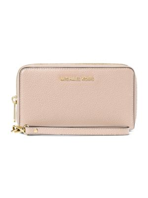 596a2180d8bf MICHAEL MICHAEL KORS FLAT MULTI-FUNCTION LARGE LEATHER SMARTPHONE WRISTLET,  SOFT PINK