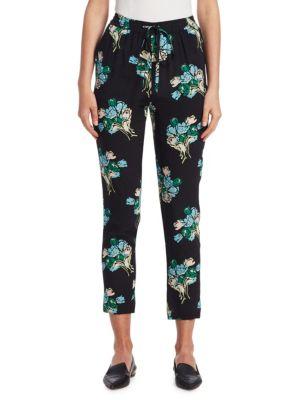 Tulip Bouquet Silk Track Pants