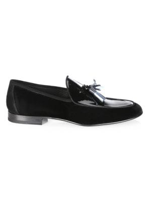 Saks Fifth AvenueCOLLECTION BY MAGNANNI Multi-Tassel Velvet Evening Loafers UUPCqhIM