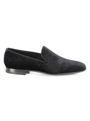 COLLECTION BY MAGNANNI Starry Night Velvet Smoking Slippers