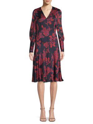 L.K. BENNETT Silk Chiffon Dress