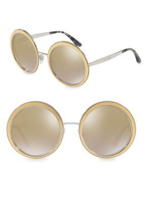 54MM Mirrored Round Sunglasses