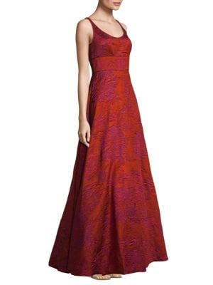 Textured Floor-Length Gown
