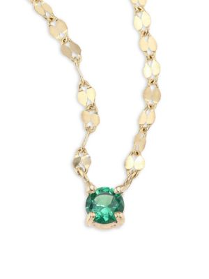 Lana Girl Green Sapphire Pendant Necklace