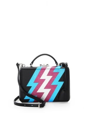 Lightning Bolt Leather Small Box Bag