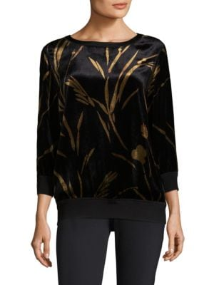 Nessa Ribbed Blouse by Lafayette 148 New York