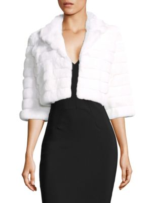 ALBERTO MAKALI Rabbit Fur Crop Jacket