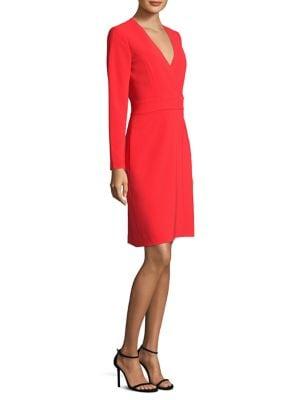 Surplice Neck A-Line Dress