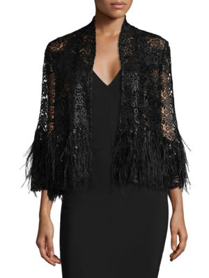 Feather & Sequin Jacket