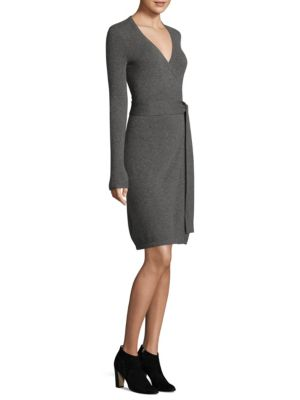 Knitted Wrap Cashmere Dress