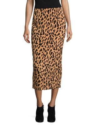 Tailored-Fit Midi Pencil Skirt