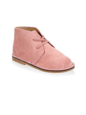 Baby's & Toddler's Lace-Up Pink Suede Chukka Booties