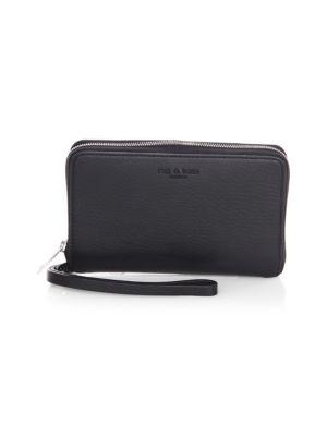 Zip-Around Leather Phone Wallet