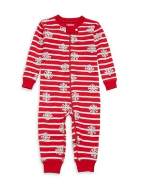 Baby's Candy Cane Mini Waffle Cotton Coverall