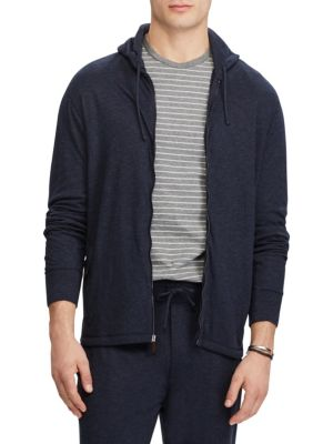 Duofold Jacquard Knit Front Zip Hoodie