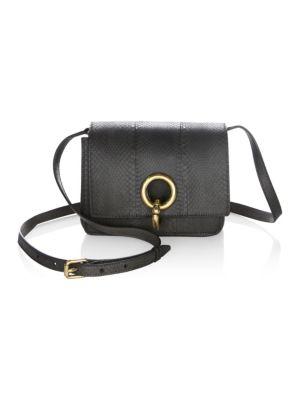 Mini Charlie Snakeskin Crossbody Bag