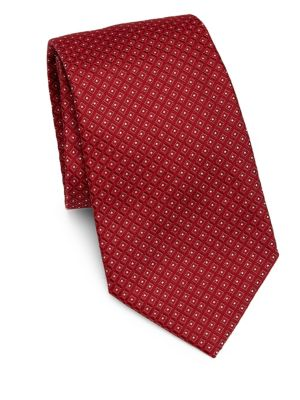 Micro Pattern Silk Tie