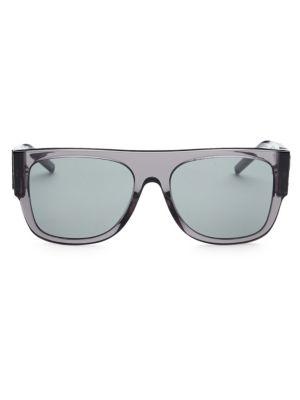 55MM Squared Flat Top Sunglasses