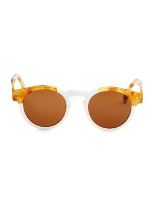 Leonard 48MM Round Sunglasses