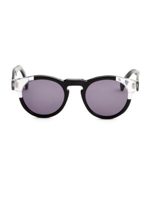 Leonard Split Back 48mm Round Sunglasses