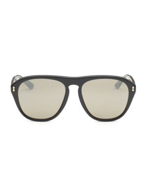 56MM Pilot Sunglasses