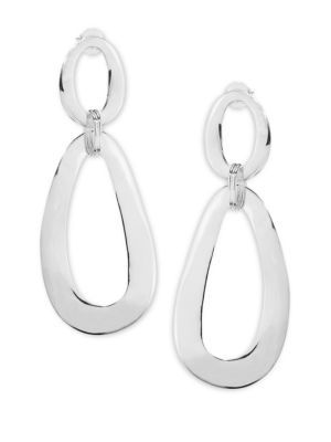 Classico Jumbo Sterling Silver Smooth Snowman Double-Drop Earrings