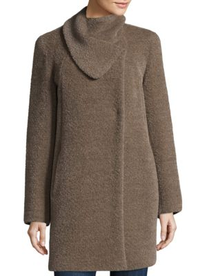 Asymmetric Envelope Swing Car Coat