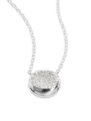 925 Onda Diamond Pendant Necklace