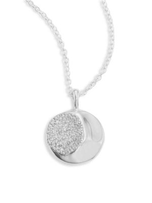925 Onda Large Diamond Pendant Necklace