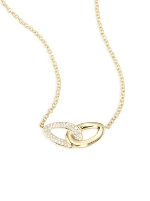 Cherish Diamond & 18K Yellow Gold Intertwine Necklace