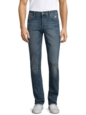 DL1961 MEN'S RUSSELL TWINE SLIM-STRAIGHT JEANS