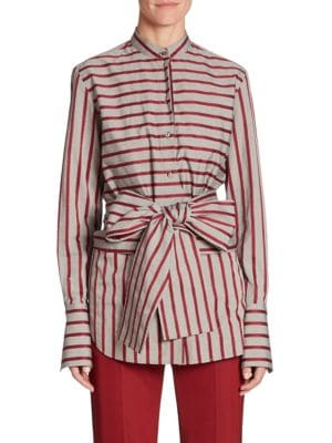Striped Tie Top by Victoria, Victoria Beckham