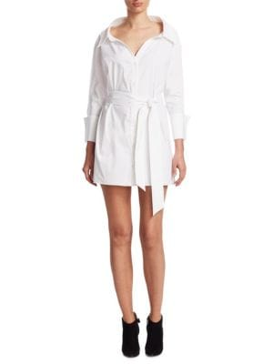Buy Alice + Olivia Tate Wide Neck Shirtdress online with Australia wide shipping