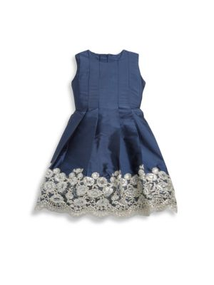 Baby's Embroidered Pleated Dress
