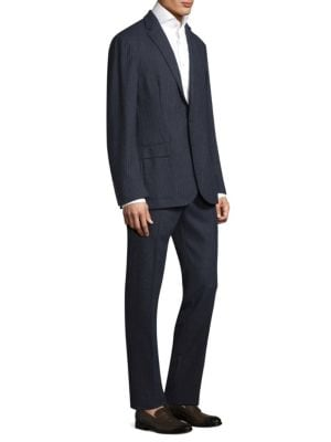 POLO RALPH LAUREN Morgan Notch Collar Brushed Stripe Suit