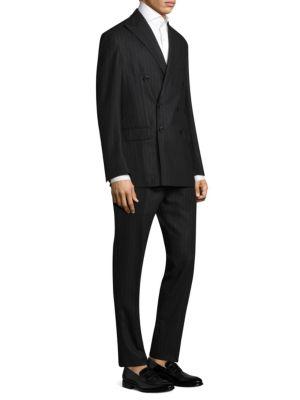 Slim-Fit Brushed Stripe Morgan Suit