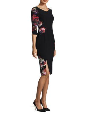 Floral Prism Sheath Dress